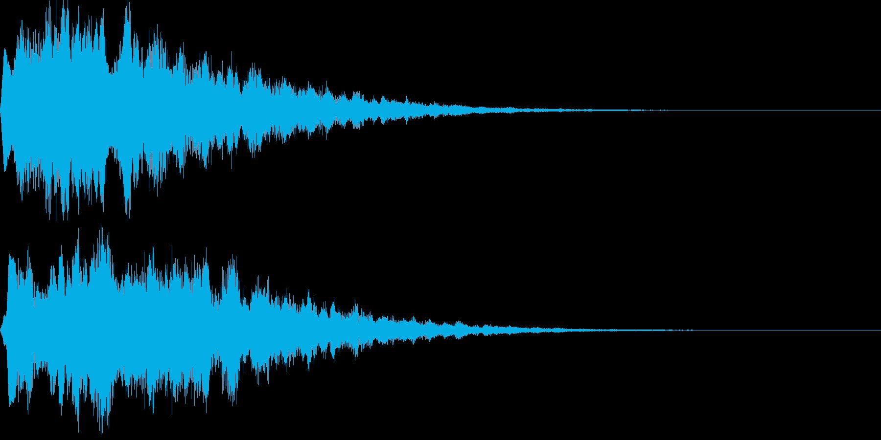 サウンドロゴ18(シンセ系)の再生済みの波形