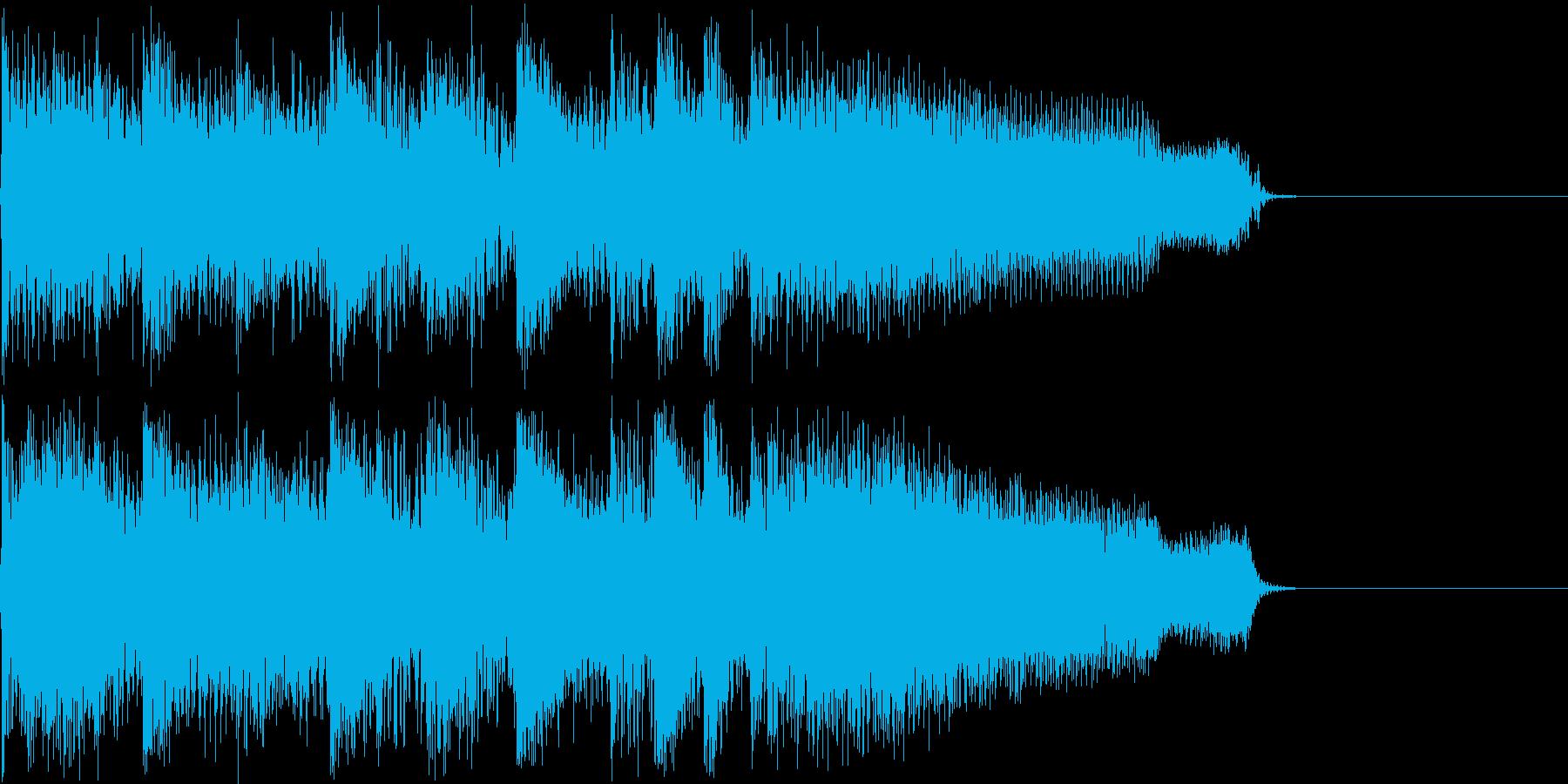 わくわく感のあるギターロック短めジングルの再生済みの波形
