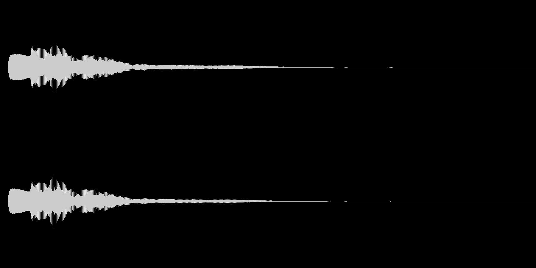 【キラリン】カリンバのかわいい効果音の未再生の波形