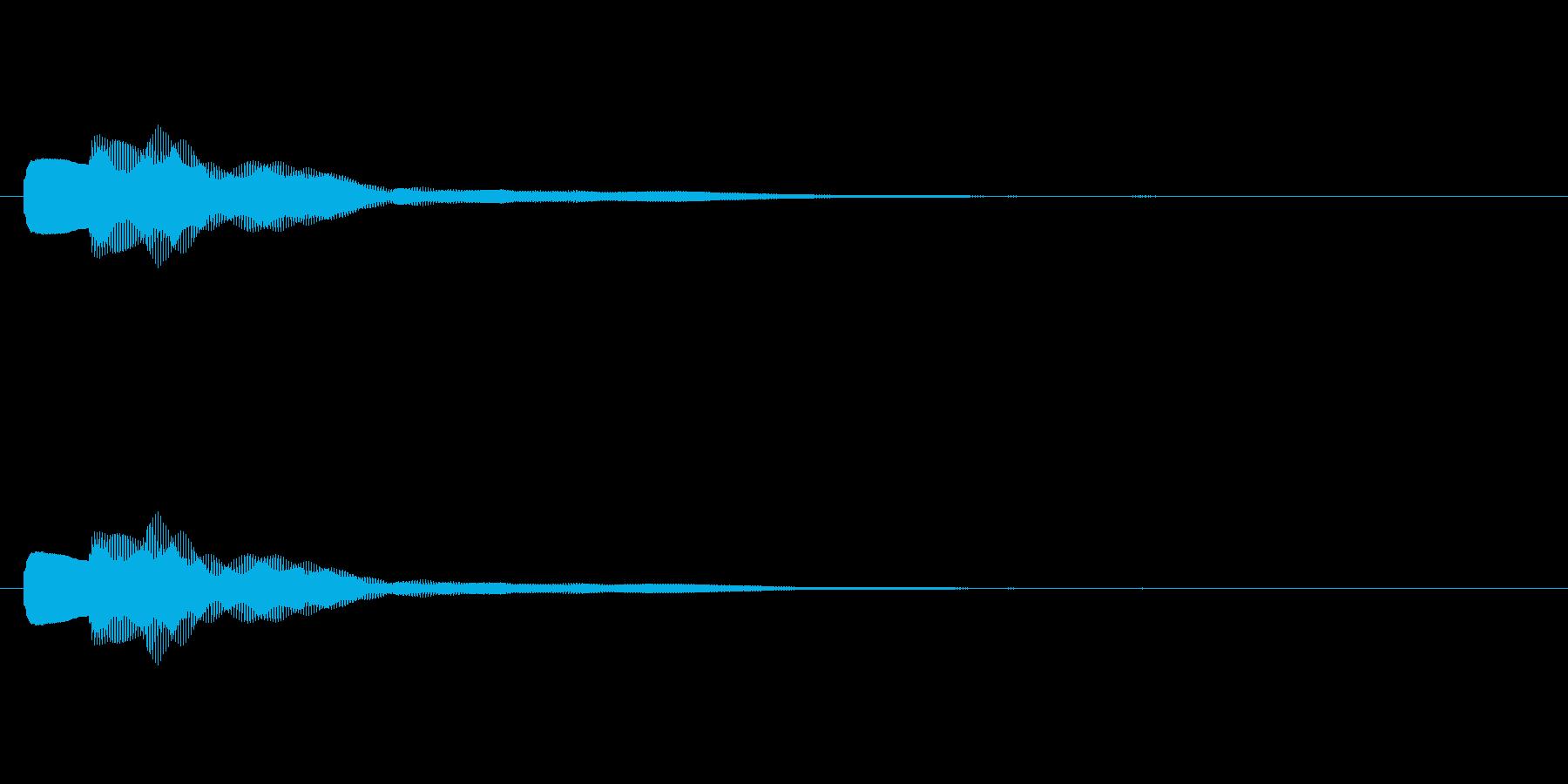 【キラリン】カリンバのかわいい効果音の再生済みの波形