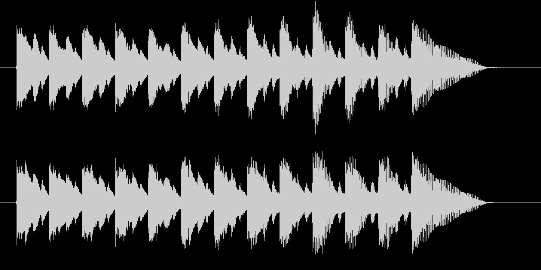 落下するイメージのジングルの未再生の波形