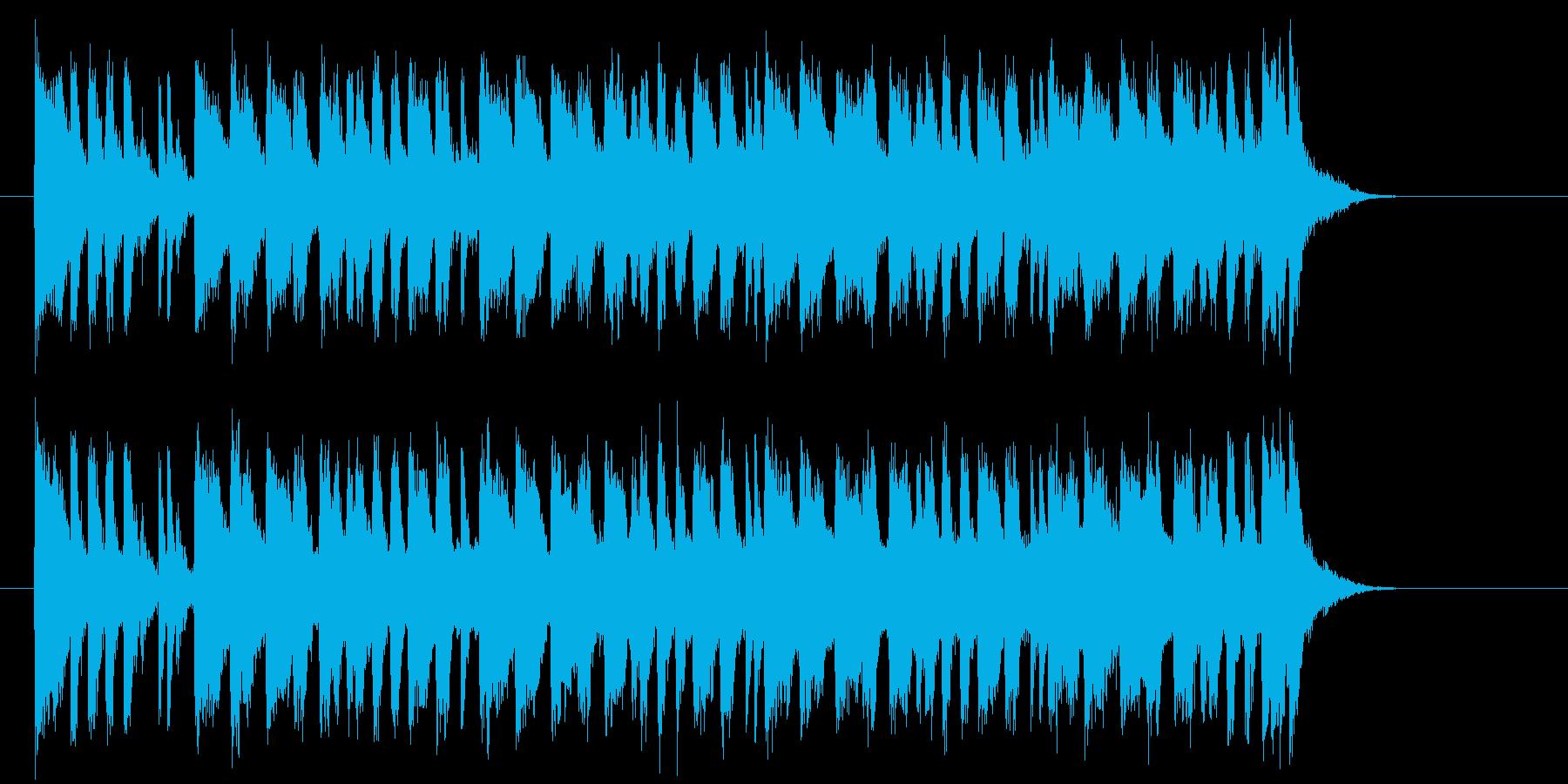 わくわく感とおしゃれなシンセテクノ短めの再生済みの波形