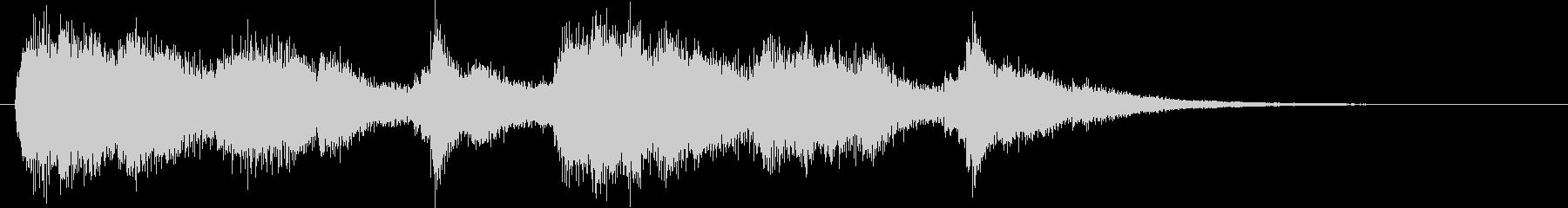 迫り来るピアノの効果音の未再生の波形