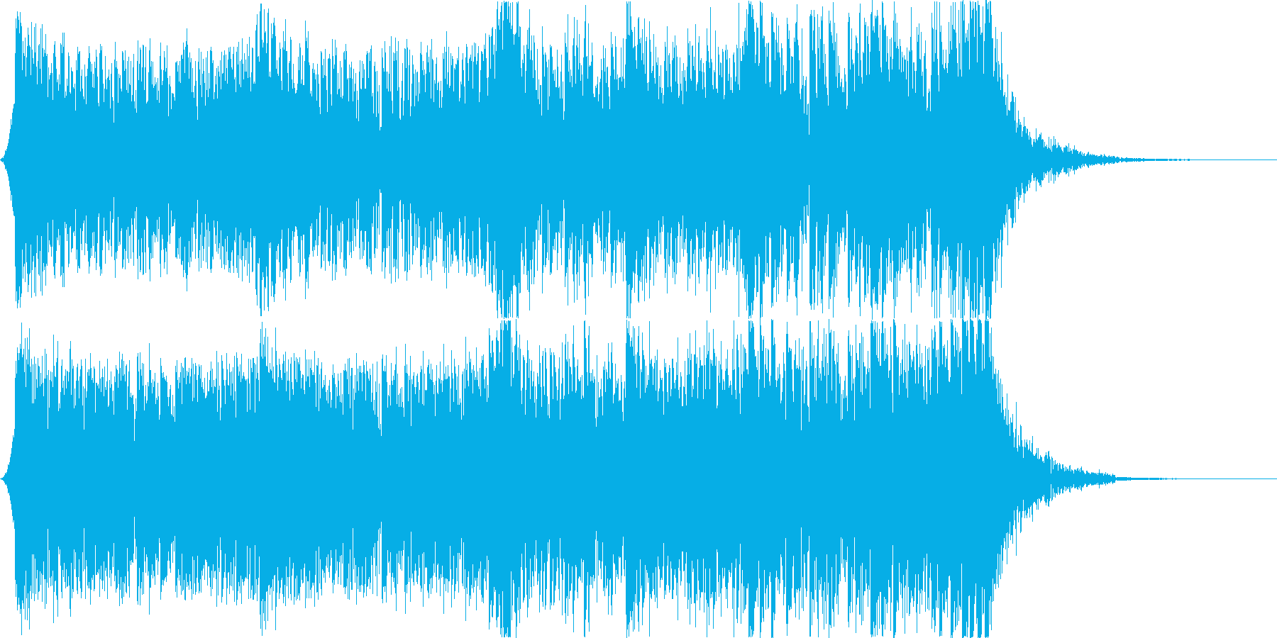 迫力あるシネマティックパーカッション02の再生済みの波形