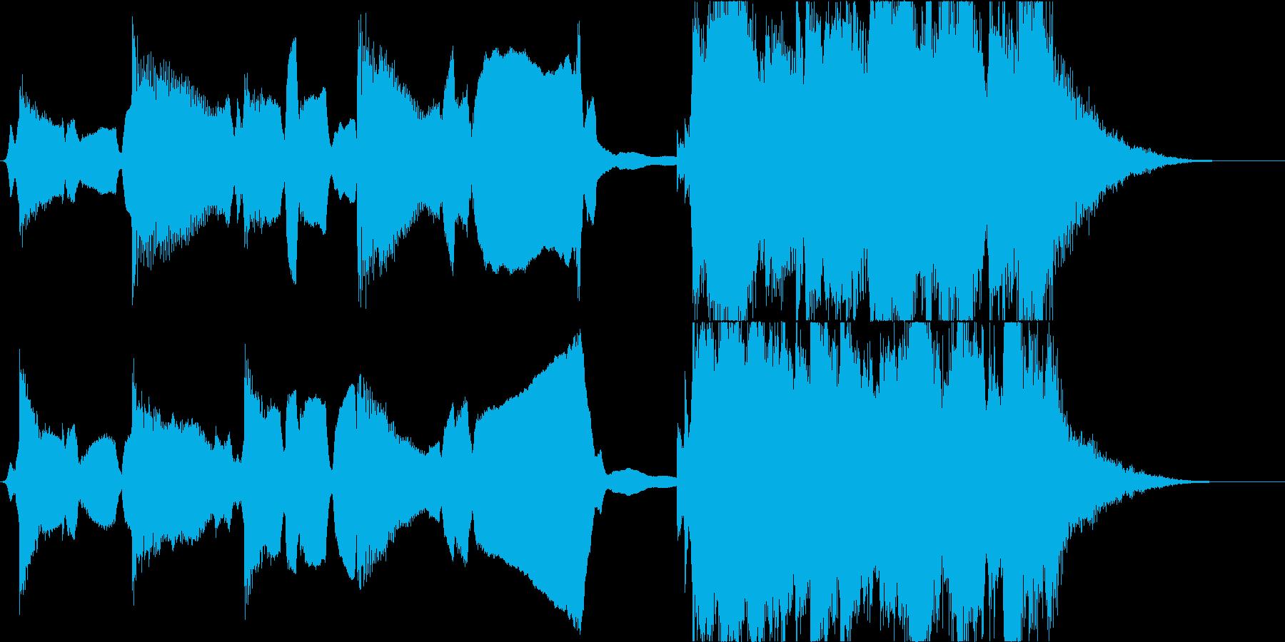 素朴なメロディーと泣きのストリングスの再生済みの波形