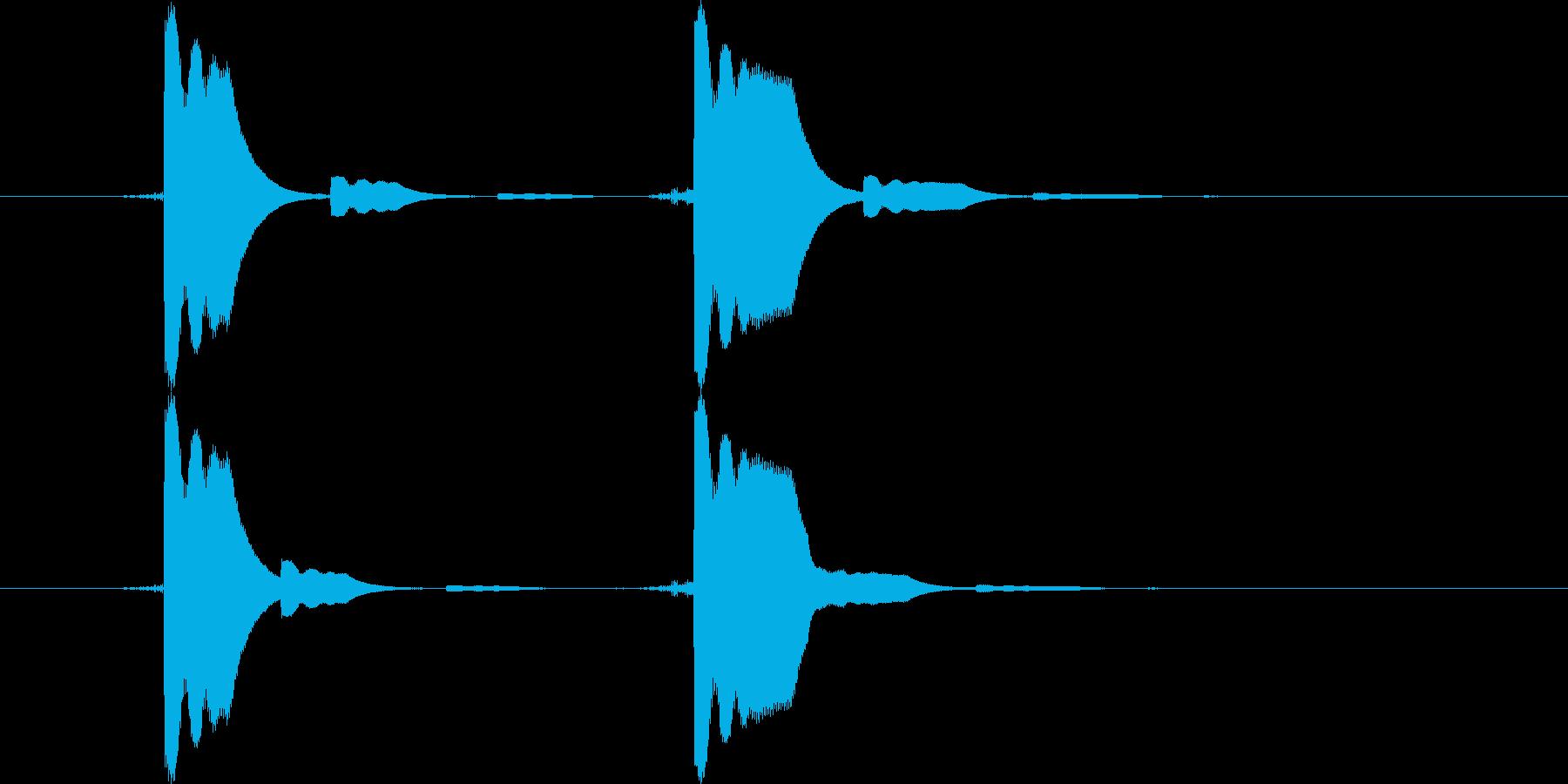 クリック系の短い効果音です。の再生済みの波形