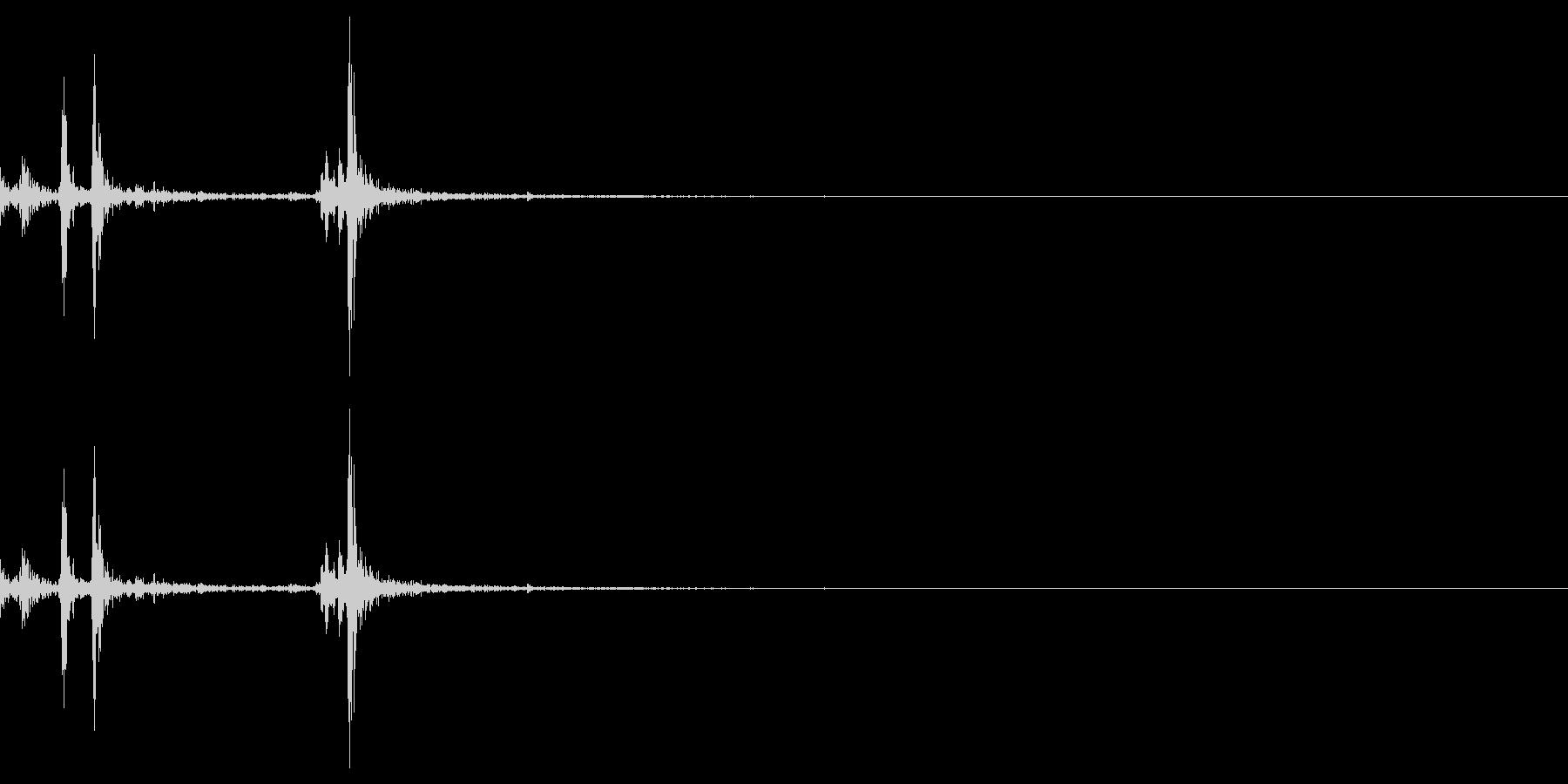 スイッチ/ボタン/パチッ/カチッの未再生の波形