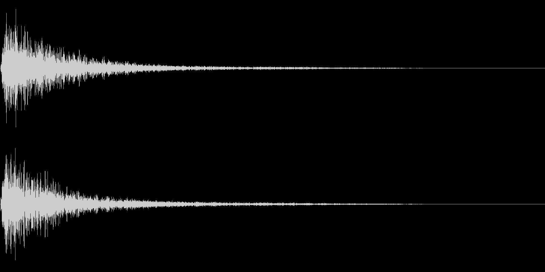 バーン衝撃音ホラーサスペンスに最適のSEの未再生の波形