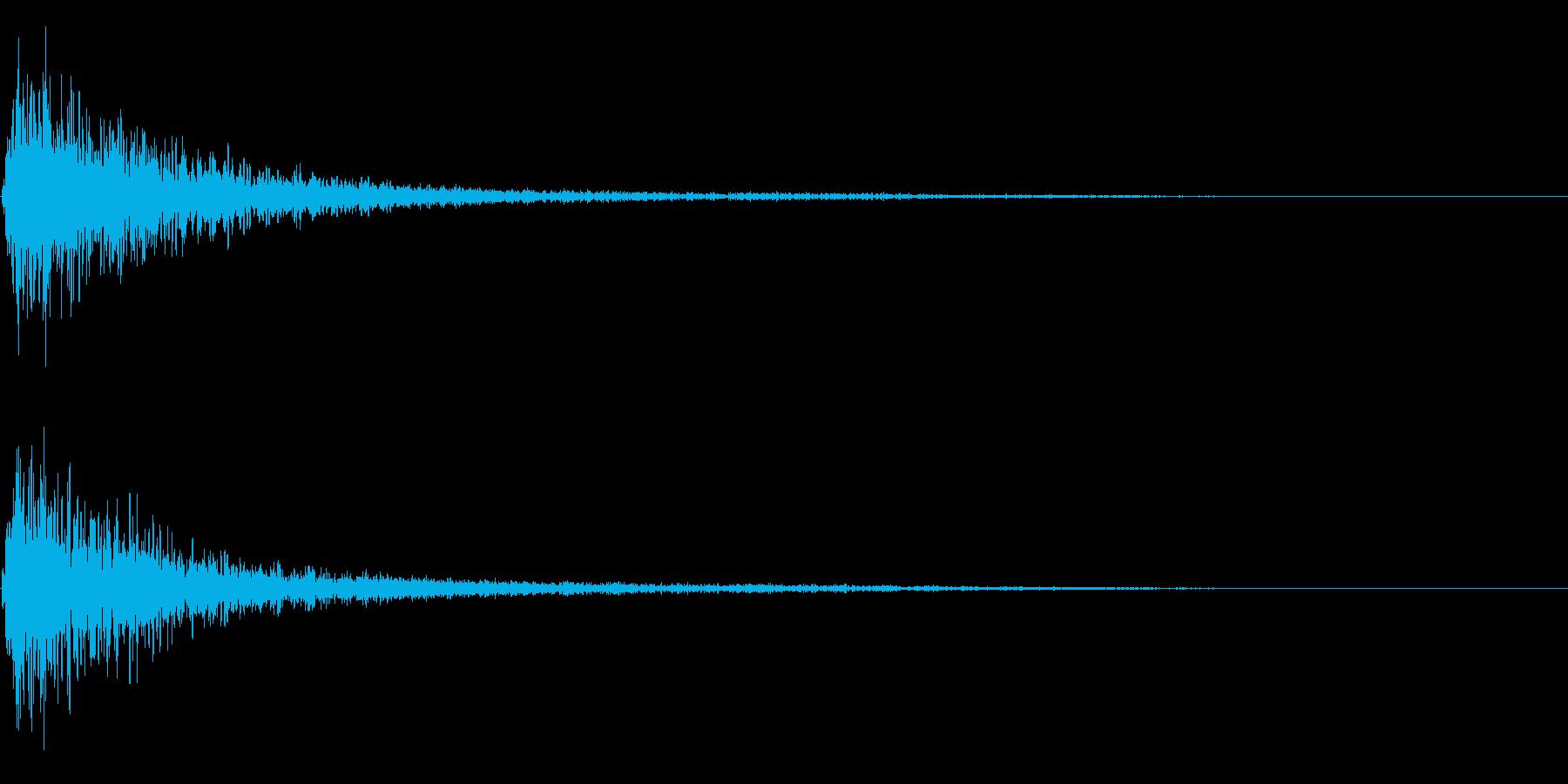 バーン衝撃音ホラーサスペンスに最適のSEの再生済みの波形