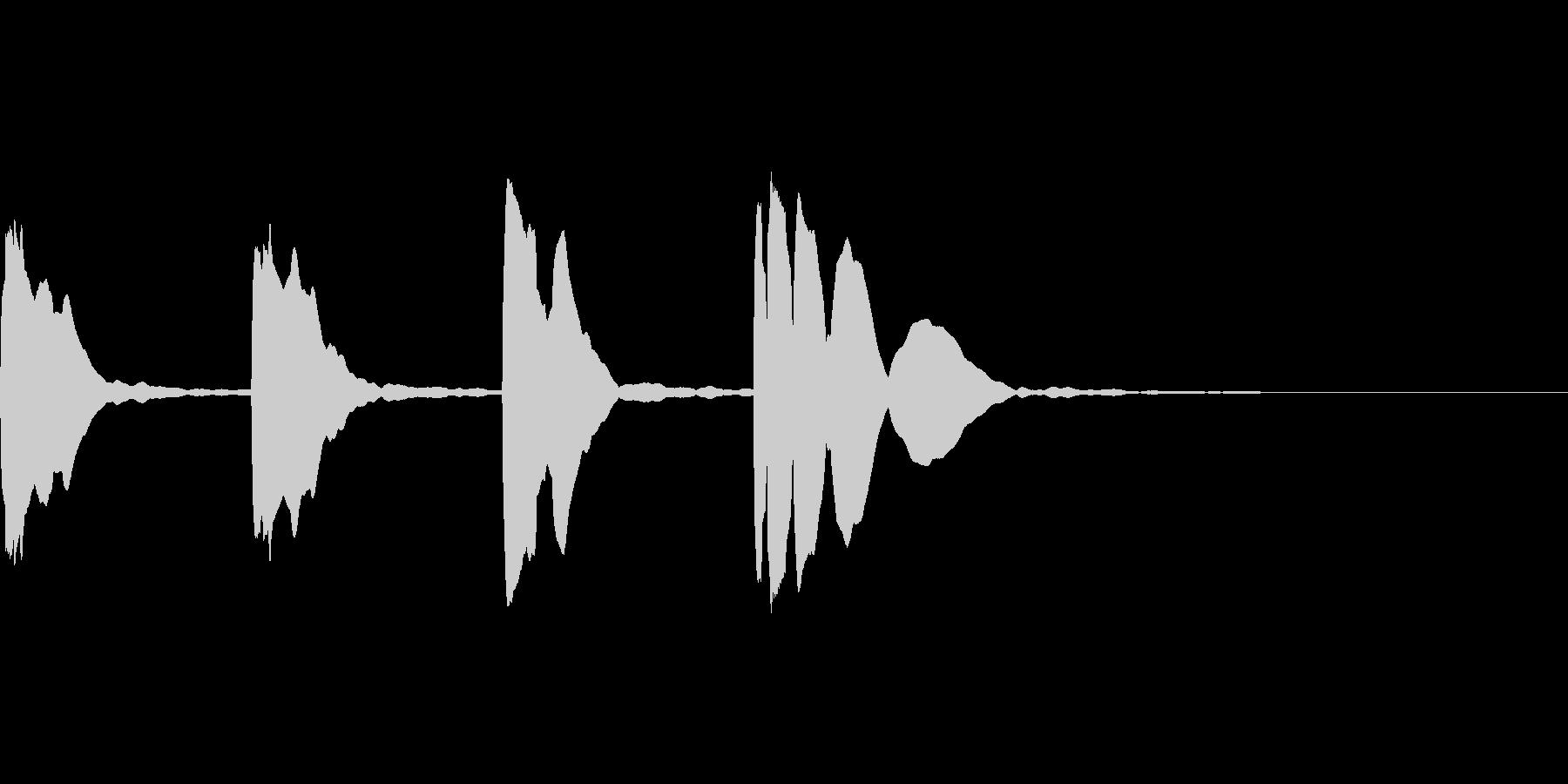 カウントダウン3.2.1.Go!!の未再生の波形