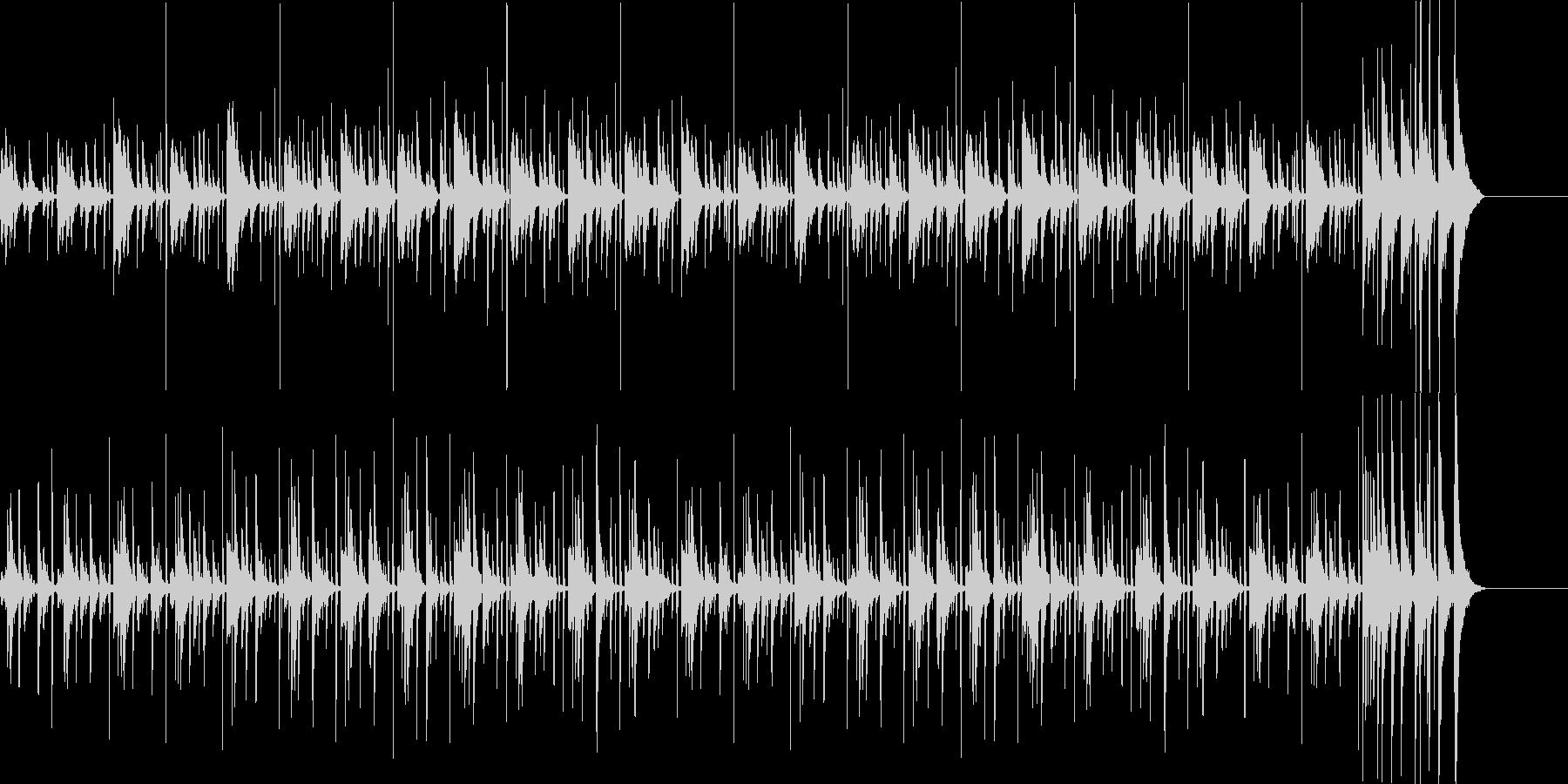 シンキング タイム: 打楽器の楽しい曲の未再生の波形