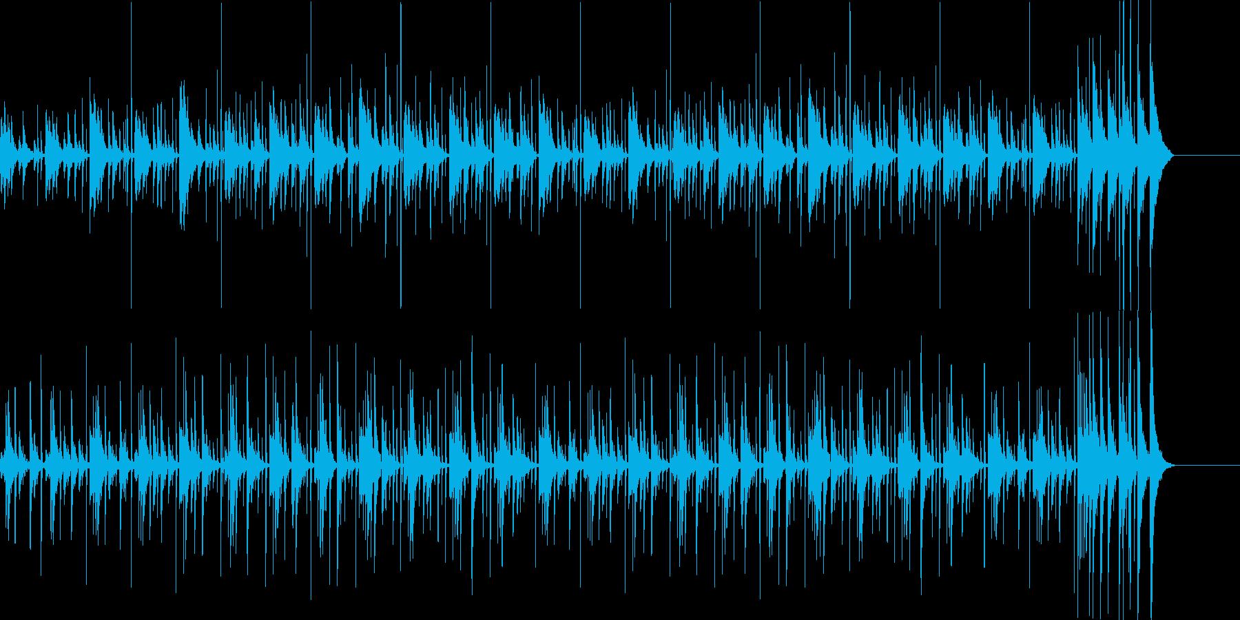 シンキング タイム: 打楽器の楽しい曲の再生済みの波形