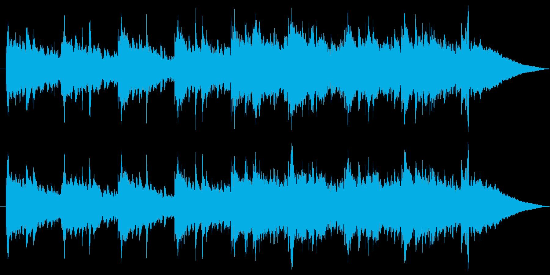爽やかで華やかなアコースティックBGMの再生済みの波形