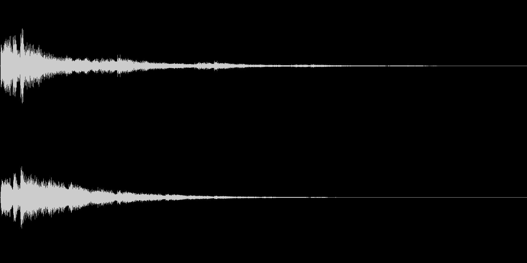 決定 シンセ01の未再生の波形