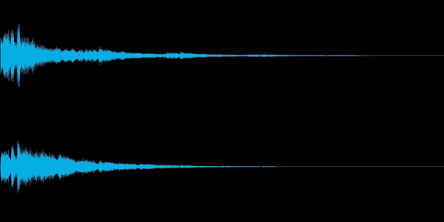 決定 シンセ01の再生済みの波形
