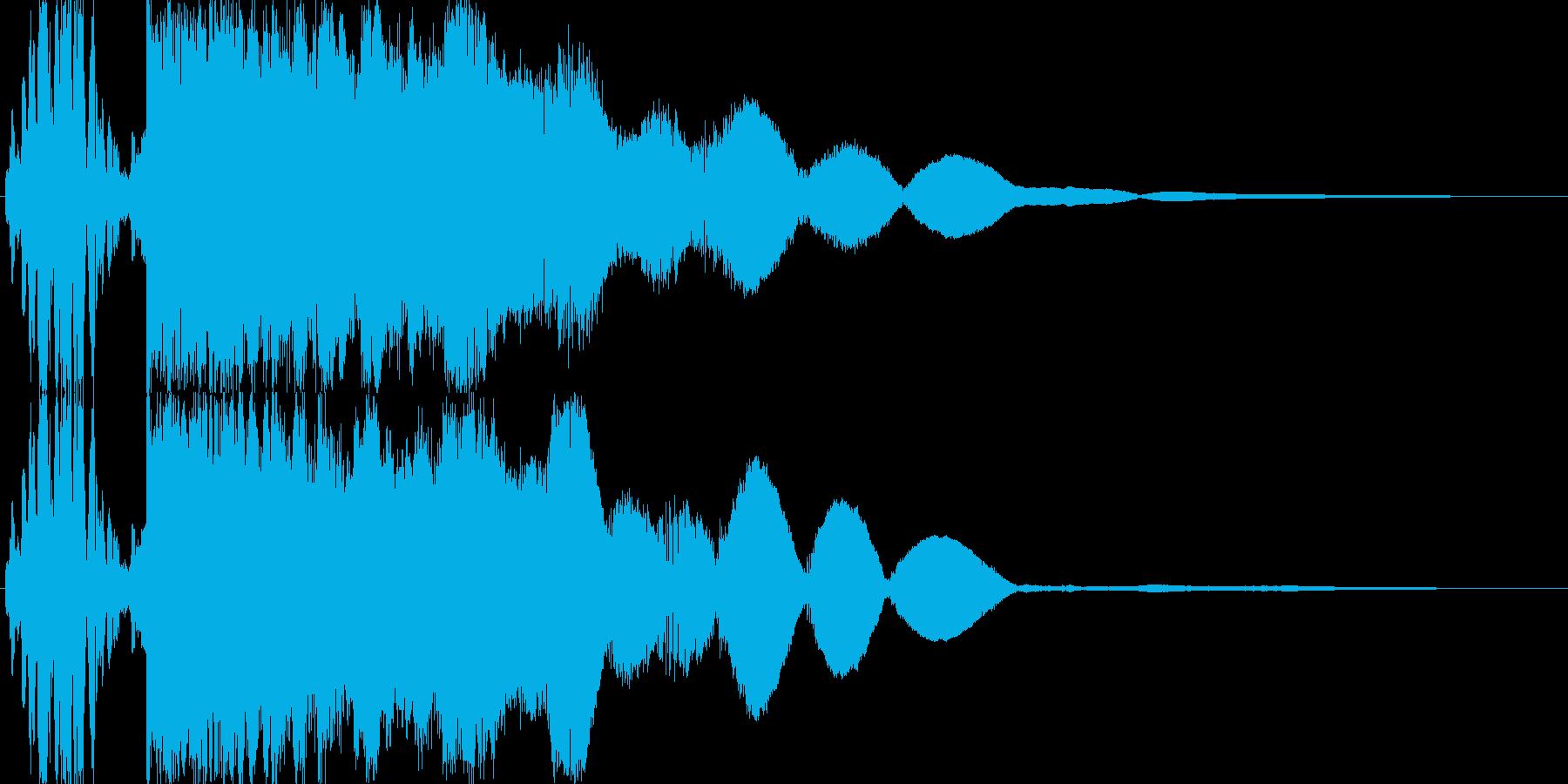 金属の衝突・合体・衝撃「ガキーン!」の再生済みの波形
