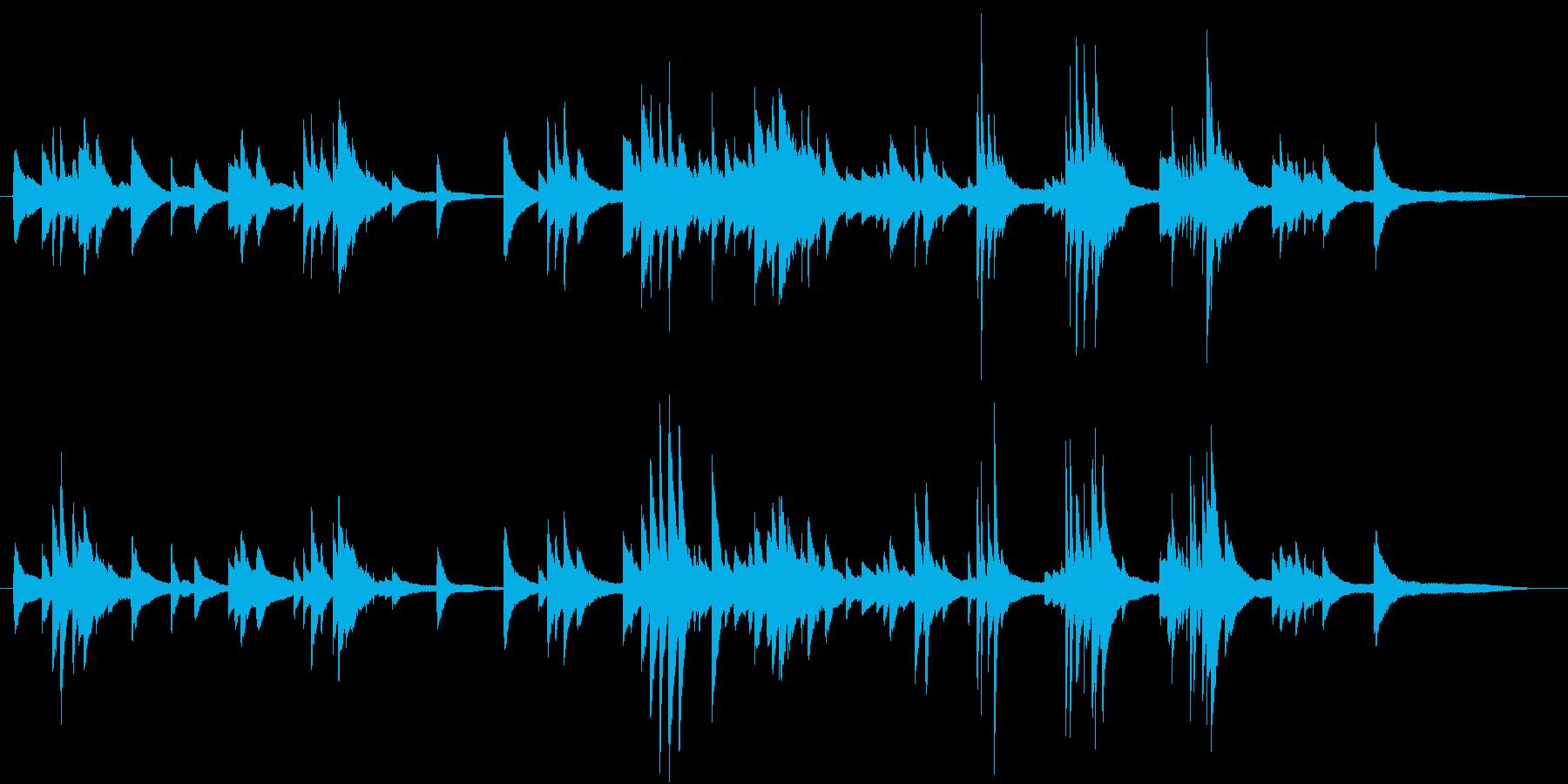 生ピアノ録音-陽だまりのような優しいソロの再生済みの波形