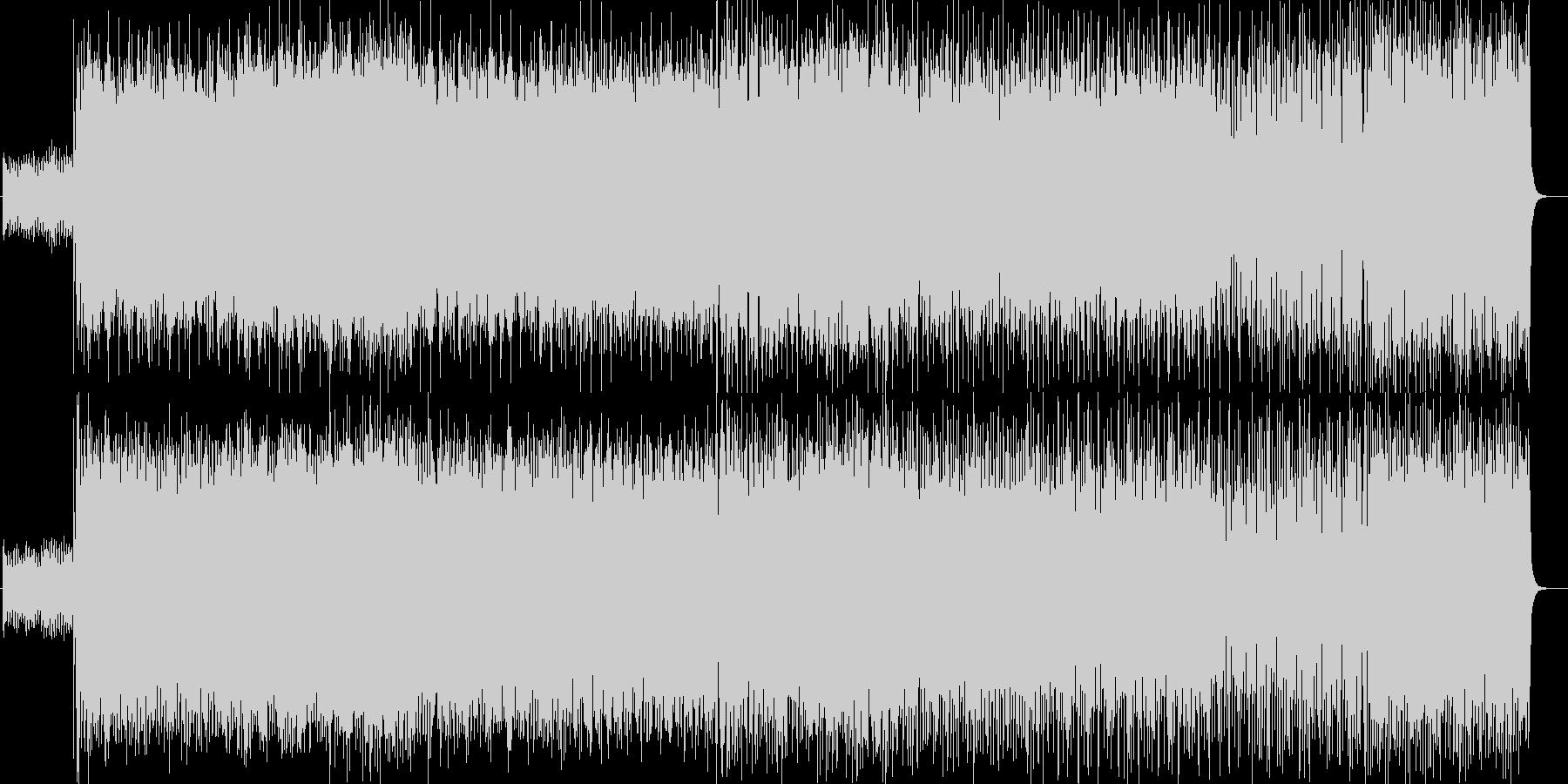 シリアス感のあるシンセサイザーサウンドの未再生の波形