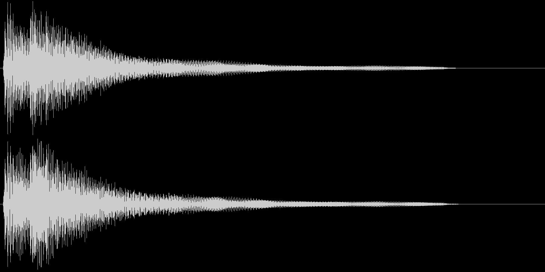 ギターによる分散和音の未再生の波形