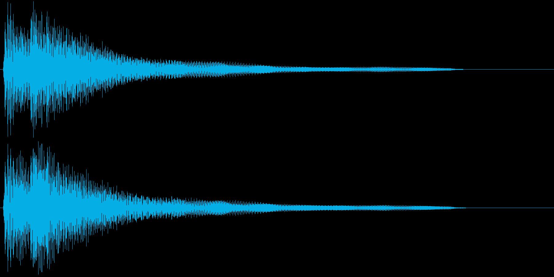 ギターによる分散和音の再生済みの波形