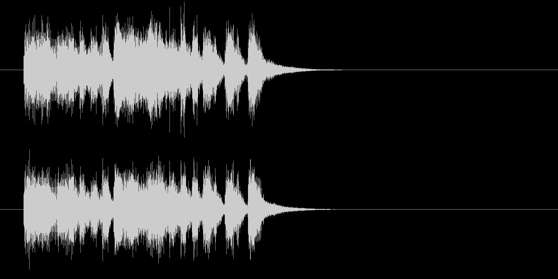 ジングル(めでたい感じ)の未再生の波形