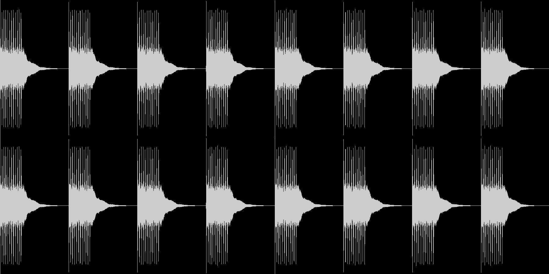 リリリ...。黒電話のベルD(長め)の未再生の波形