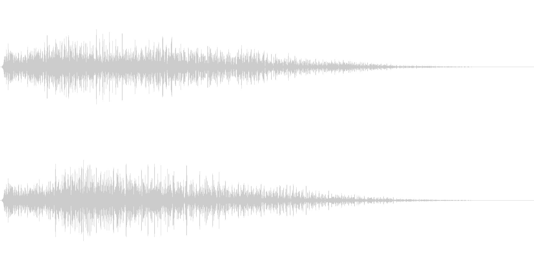 ゴージャスな決定音3の未再生の波形