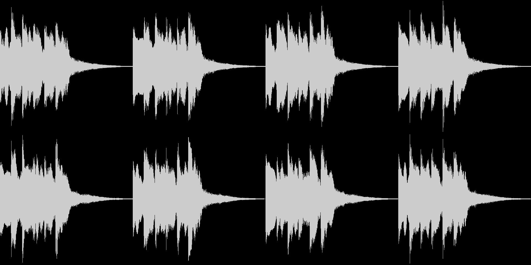 シンプル ベル 着信音 チャイム B-9の未再生の波形