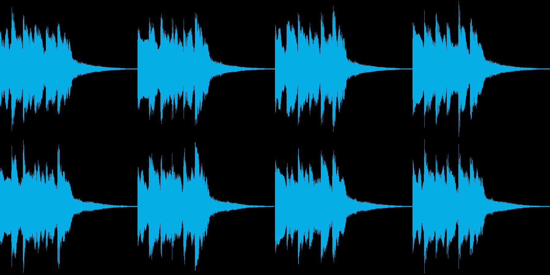 シンプル ベル 着信音 チャイム B-9の再生済みの波形