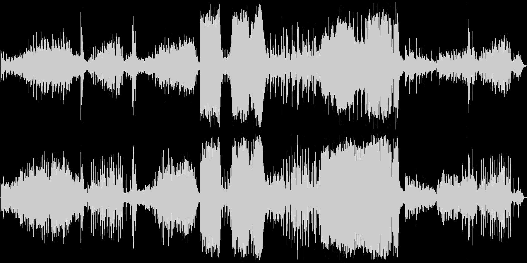 アクションスリラー音楽の未再生の波形