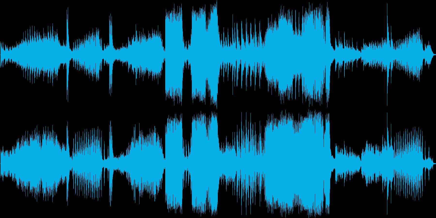 アクションスリラー音楽の再生済みの波形