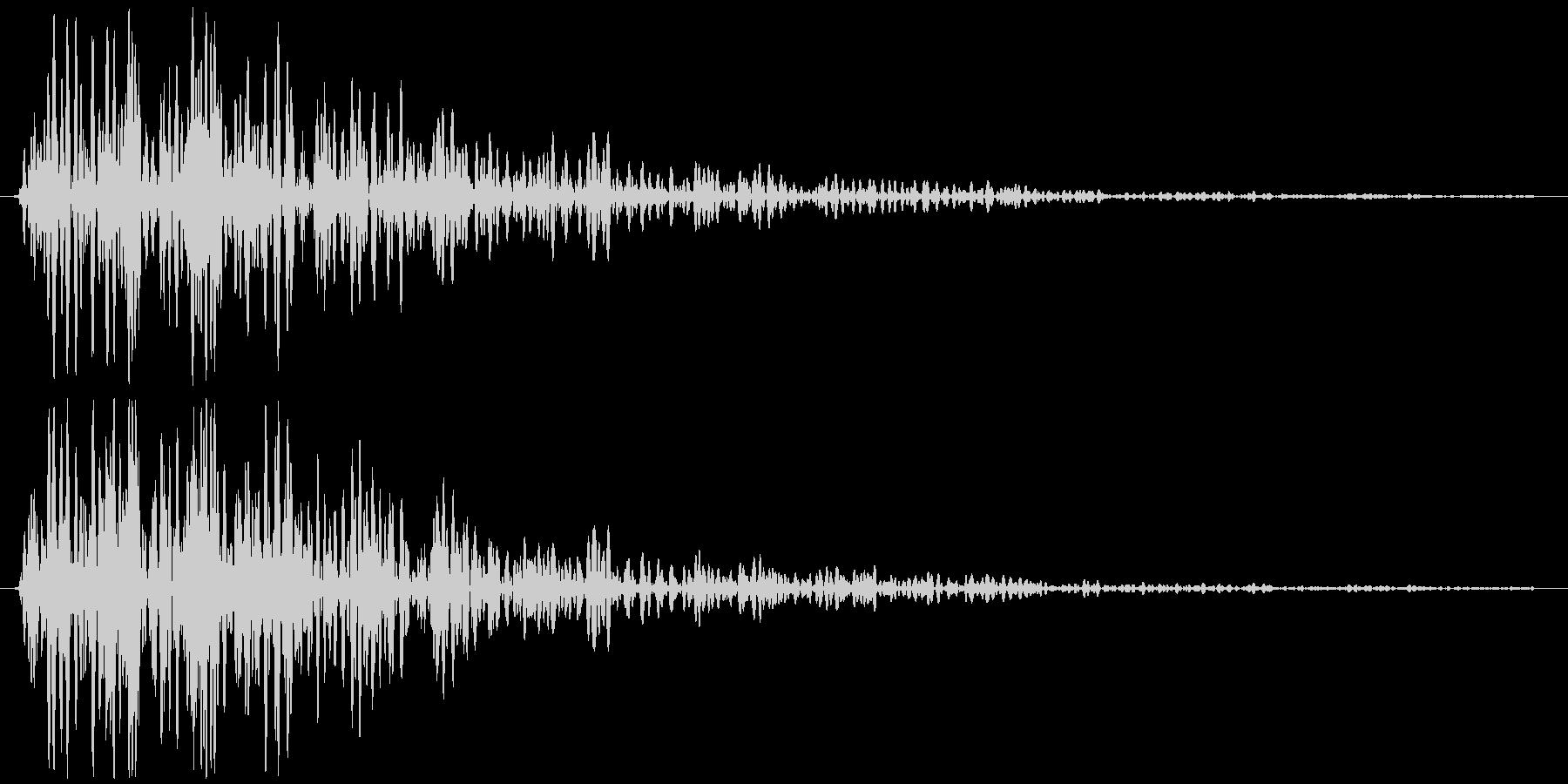 ビュン(金属系効果音)の未再生の波形