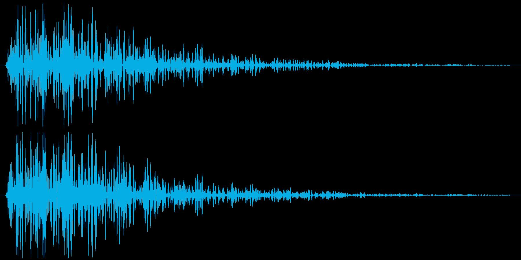 ビュン(金属系効果音)の再生済みの波形