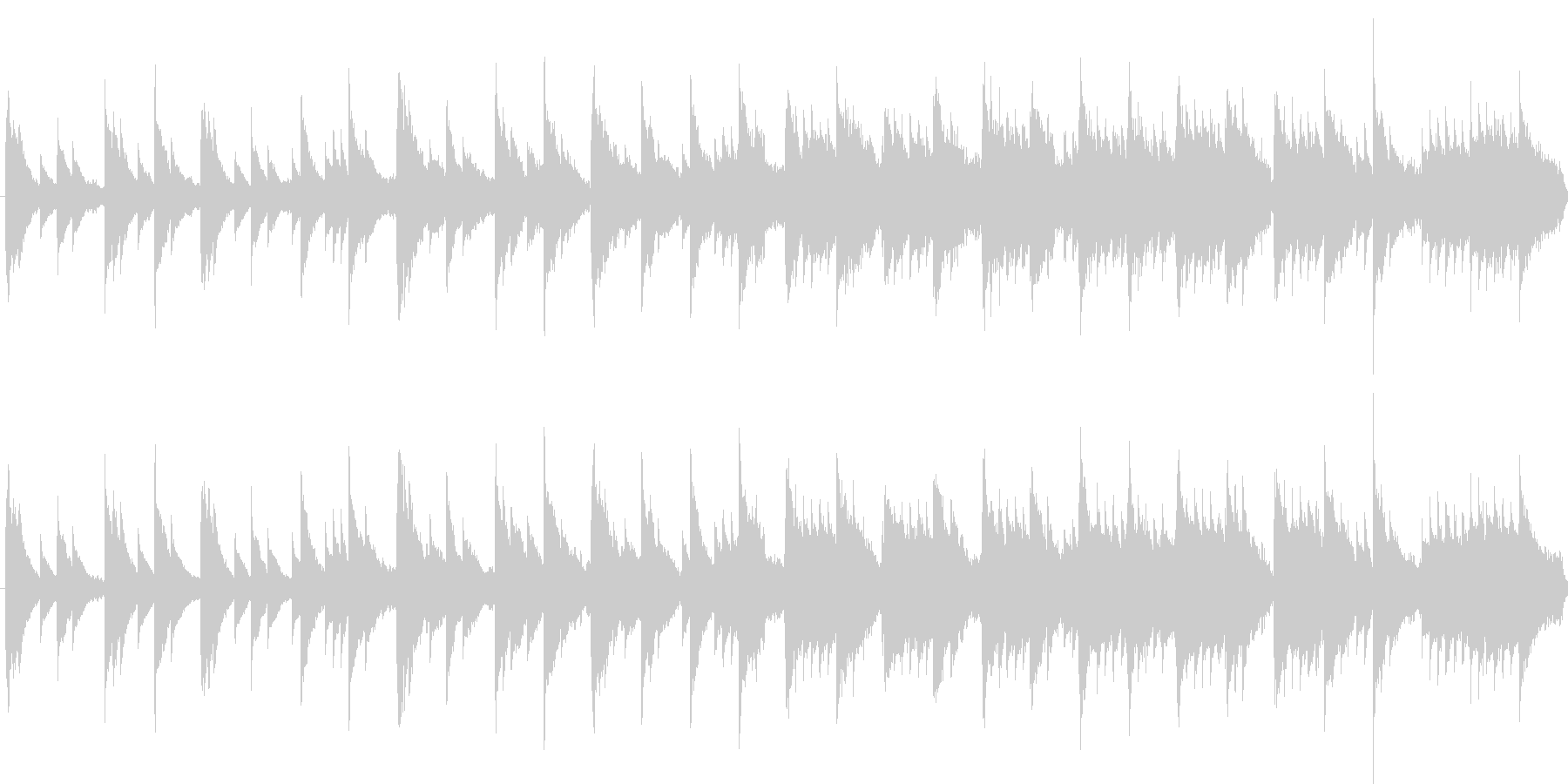 オルゴールの曲のようなインストの未再生の波形