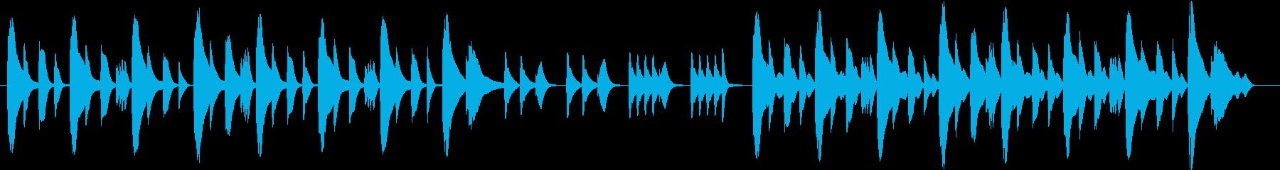木琴で作ったほのぼのとした雰囲気の曲の再生済みの波形