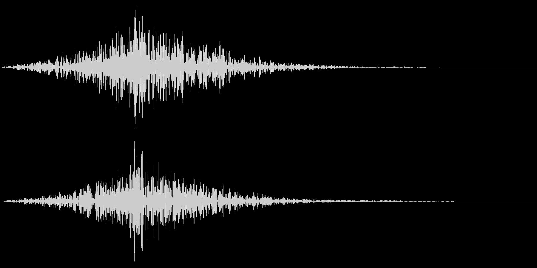 ホラー系アタック音109の未再生の波形