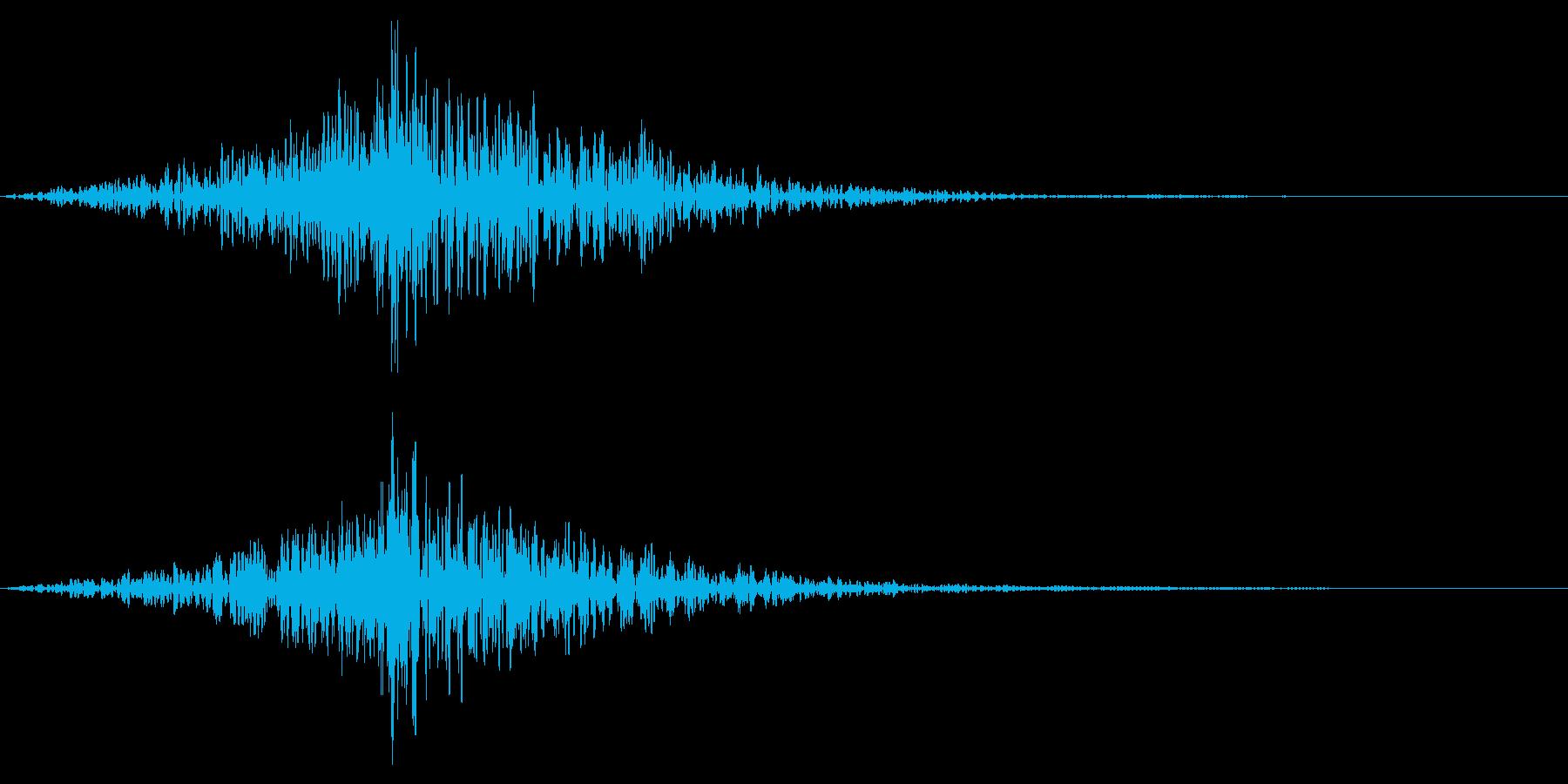 ホラー系アタック音109の再生済みの波形