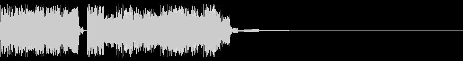 始まりの際の音、スタートの未再生の波形