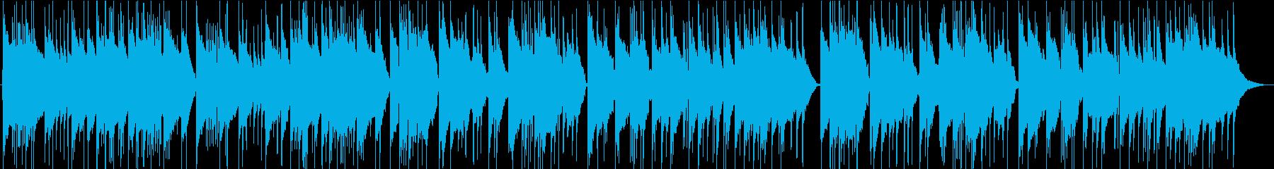 バッハ「リュート組曲第1番」よりの再生済みの波形