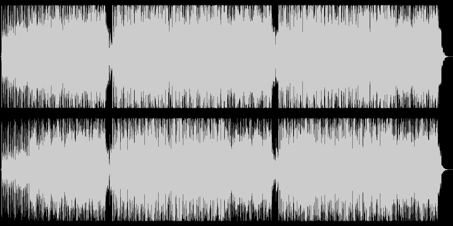 EGの伴奏と柔らかいシンセメロディの未再生の波形