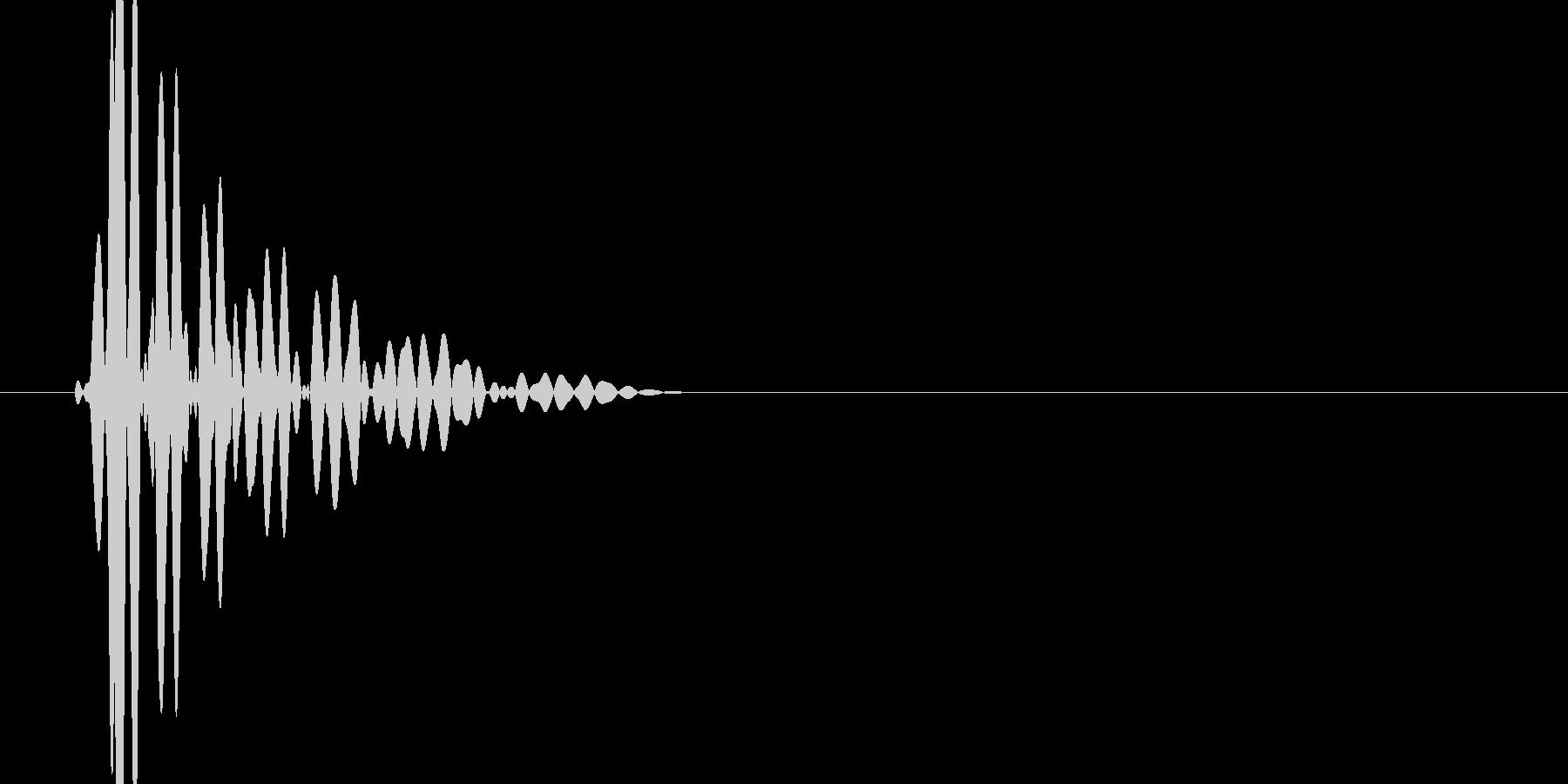 ドン(壁、行き止まり、進めない)の未再生の波形
