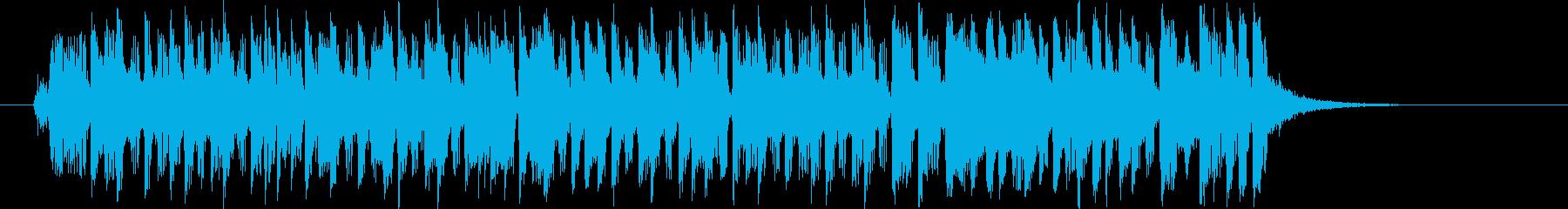 明るくユニークでピアノが印象的なBGMの再生済みの波形