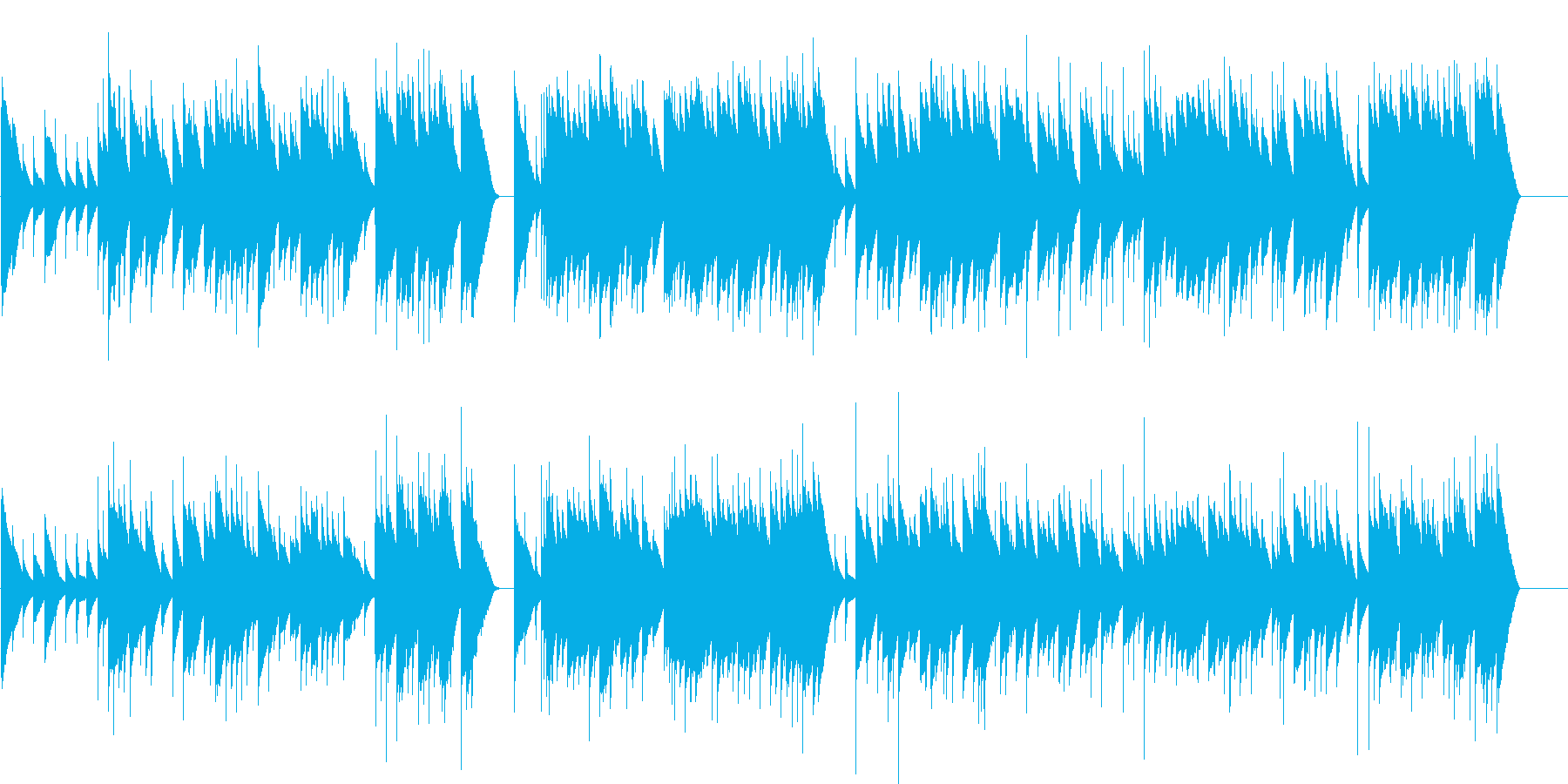 バッハ G線上のアリア オルゴールの再生済みの波形