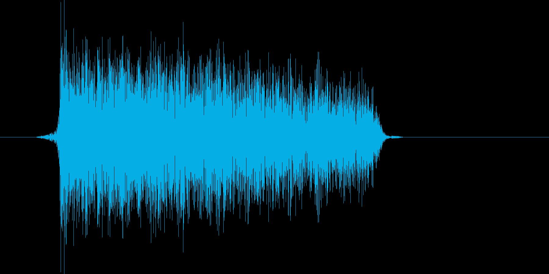 ゲーム(ファミコン風)爆発音_049の再生済みの波形