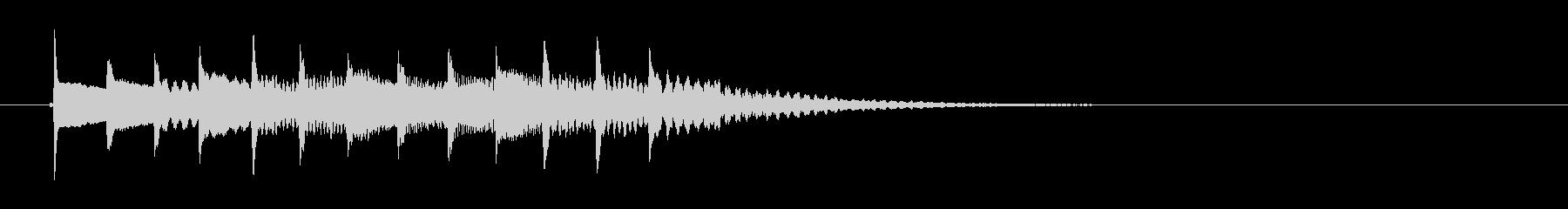 高音シンセ鍵盤メロディーの未再生の波形