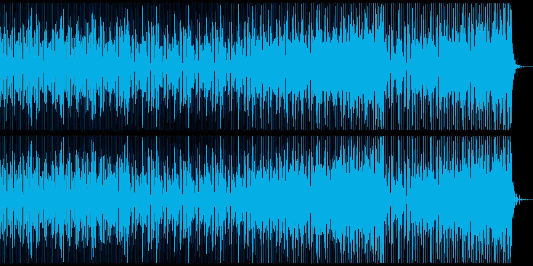 楽しく、コミカルなBGM(ドラム有り)の再生済みの波形