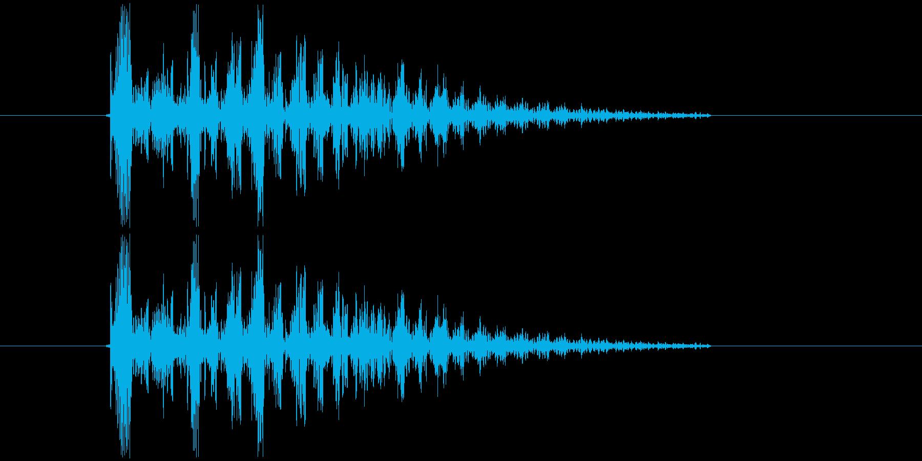 かわいい射撃音の再生済みの波形