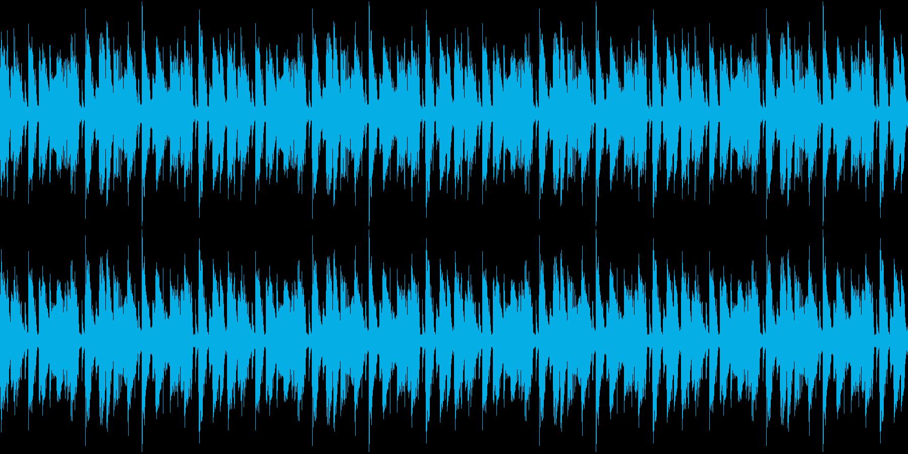 おしゃれなループBGMの再生済みの波形