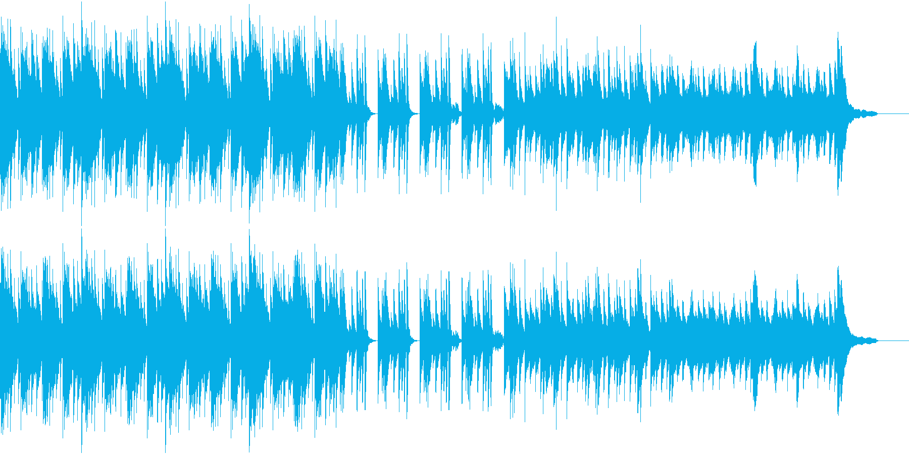 暖かい春のBGMの再生済みの波形