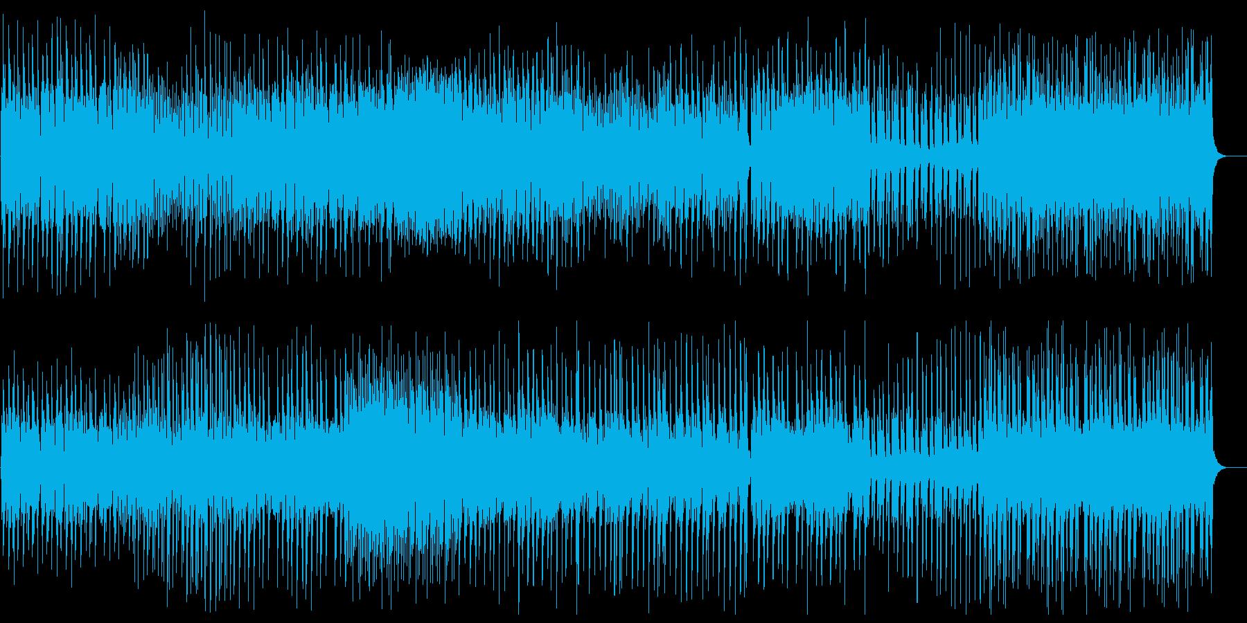不思議な曲調の変則なピアノの曲の再生済みの波形